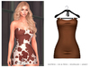 POSIE - Gisele Croset Mini Dress .CAMEL