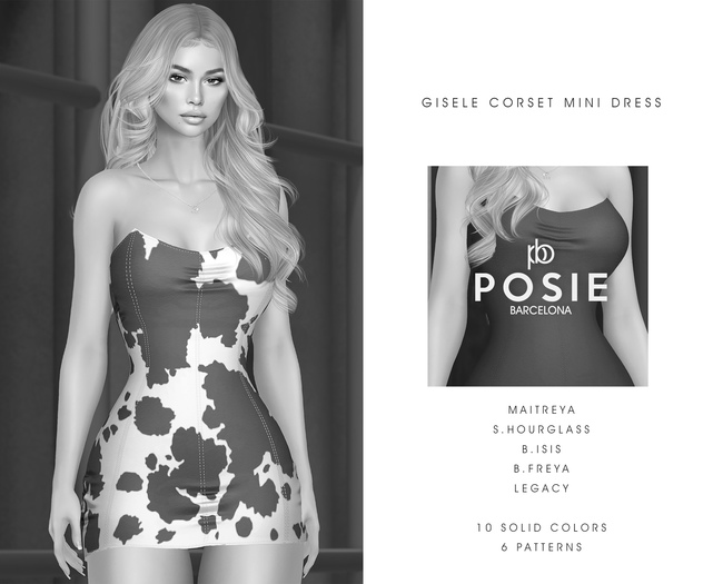 POSIE - Gisele Croset Mini Dress .DEMO