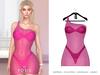POSIE - Ashanti Fishnet Dress .NEON PINK
