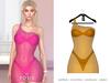 POSIE - Ashanti Fishnet Dress .NEON ORANGE