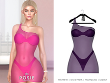 POSIE - Ashanti Fishnet Dress .EGGPLANT