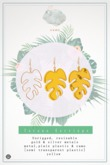 Swan Tucana Earrings Yellow