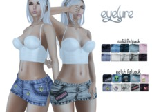 Eyelure Sassy Denim Skirt with Patched HUD