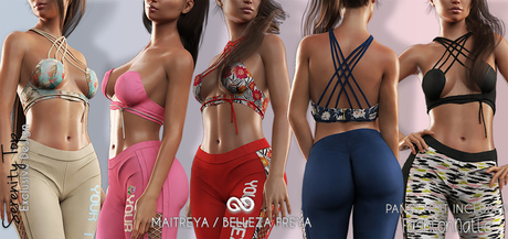 SERENITY FEMALE TOP FATPACK - MESH - Maitreya Lara, Belleza Freya - FashionNatic