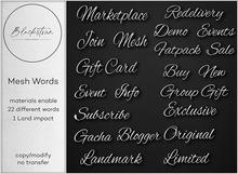 Blackstone - Mesh Words - Silver