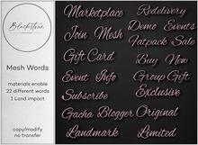 Blackstone - Mesh Words - Rose Gold