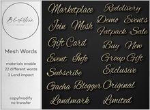 Blackstone - Mesh Words - Gold