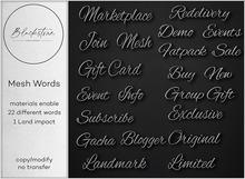 Blackstone - Mesh Words - Dark Silver
