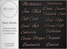 Blackstone - Mesh Words - Copper