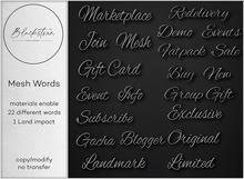 Blackstone - Mesh Words - Black