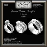 Beloved Jewelry : Forever Engagement Wedding Ring Bento Set (Celtic) Engagement Wedding Ring, Men's Ring, Bridal