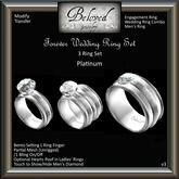 Beloved Jewelry : Forever Engagement Wedding Ring Bento Set (Platinum) Engagement Wedding Ring, Men's Ring, Bridal