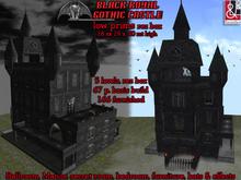 Black Royal Gothic Castle - new, Low Prims