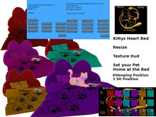 [RG] KittyCats Heart Bed Resize Multi Color Sit (Box)