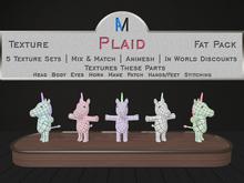 AniMates - Cupcake - Plaid - Texture Fat Pack