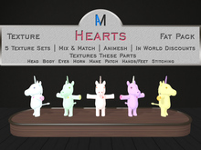 AniMates - Cupcake - Hearts - Texture Fat Pack