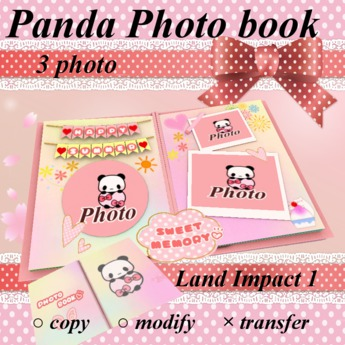 Panda Photo book