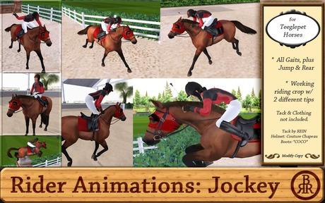 Teeglepet Rider Animations: Jockey Set 1.2