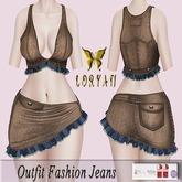 ..LORYAN.. Outfit Fashion Jeans Brown