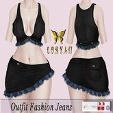 ..LORYAN.. Outfit Fashion Jeans Black