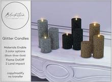 Blackstone - Glitter Candles Set