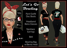 [DB] Let's Go Bowling - Retro, 50s Rockabilly Outfit Maitreya Slink Belleza Vintage