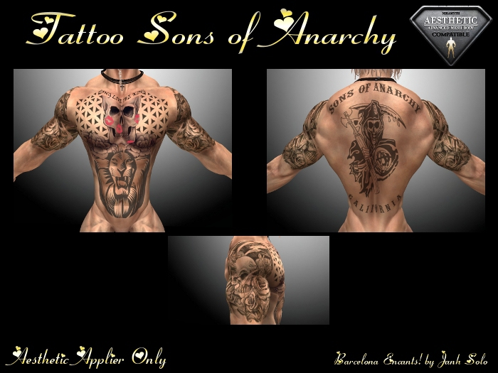 Second Life Marketplace Tattoo Sons Of Anarchy Aesthetic By Barcelona Encants