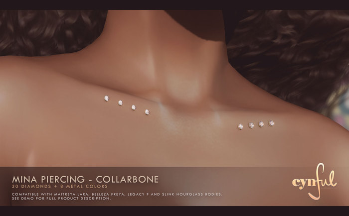 Second Life Marketplace Cynful Mina Piercing Collarbone
