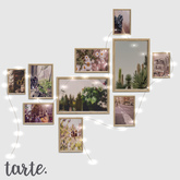 tarte. picture frame collage