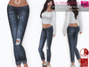 %50SUMMERSALE SLINK HOURGLASS FULL PERM FITMESH Low Rise Rolled Leg Skinny Ripped Denim Jeans - 5 TEXTURES