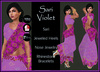 [DB] Sari Gown Complete Outfit - Violet - Maitreya, Belleza, Slink