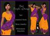 [DB] Sari Gown Complete Outfit - Orange Purple - Maitreya, Belleza, Slink