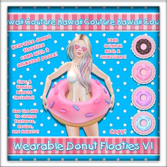 Kawaii Couture Wearable Donut Floatie V1