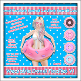 [: Kawaii Couture :] Wearable Donut Floatie V1 - Vanilla [HUD]