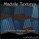 Madville Textures - Blue Victorian Wallpaper Textures