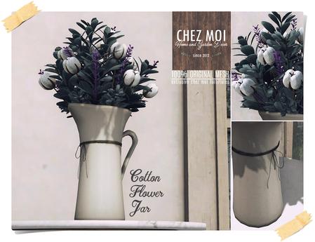 Cotton Flower Jar ♥ CHEZ MOI