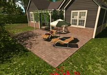 Adams pergola and patio