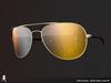 Curved aviator sunglasses 051