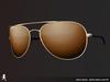 Curved aviator sunglasses 052