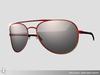 Curved aviator sunglasses 055