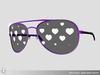 Curved aviator sunglasses 056