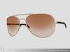 Curved aviator sunglasses 057