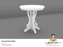 SUMMER SALE 50% OFF - Joolee Tee Builders - Round End Table