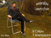 50% OFF ~MH~ Men Wearable Multi Pose lawn chair