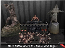 [Mesh ] Gothic Booth DJ Skulls And Angels