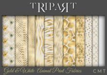 .::TRIPART::. Gold & White  Animal Print Fabrics