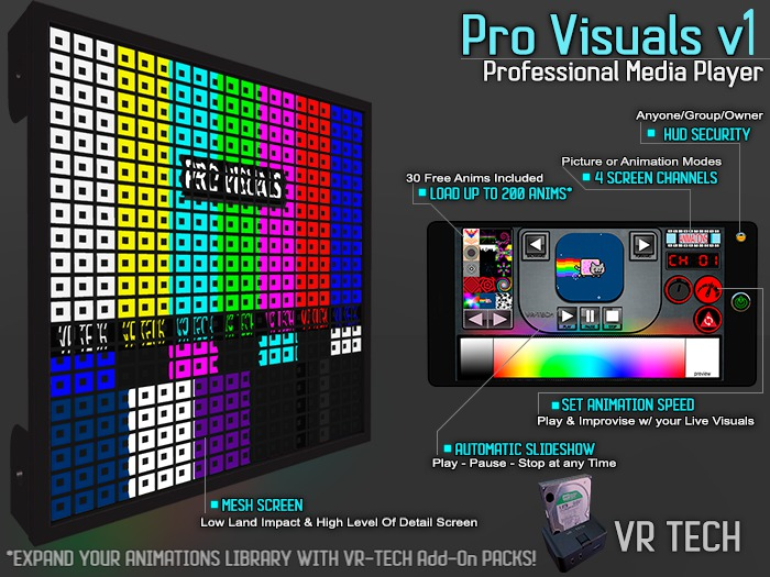 VR-TECH PRO VISUALS OLED SQUARES SCREEN