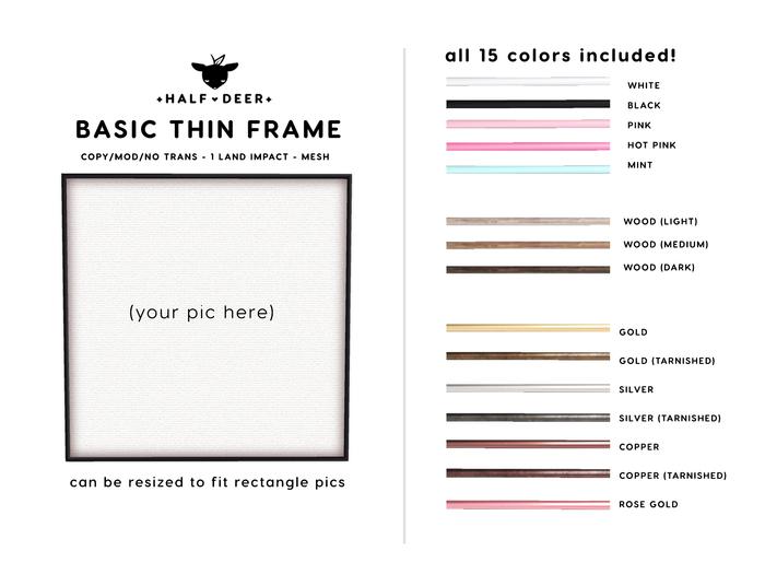 +Half-Deer+ Basic Thin Frame [15 Colors]