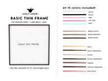 +Half-Deer+ Basic Thin Frame [15 Colors]