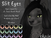 .{o}. Slit Eyes for Canis Bento Head // Bright